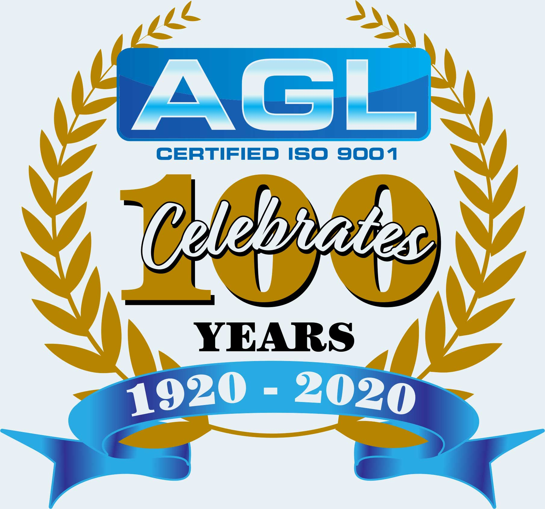 Blue Gold 100th Anniversary logo web